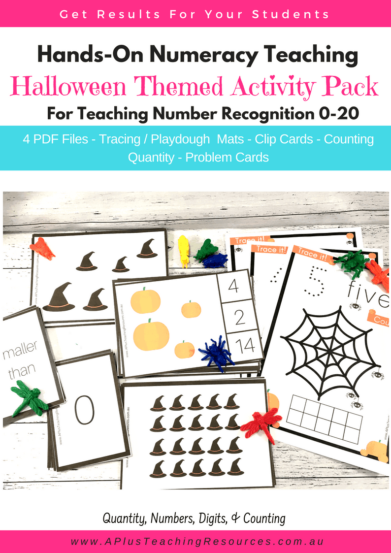 SPOOKtacular Number Recognition Activity For Halloween