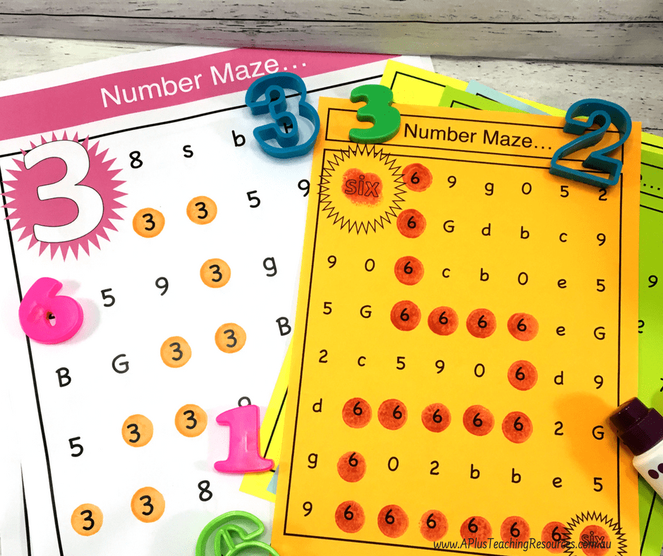 Number Mazes For 0-20