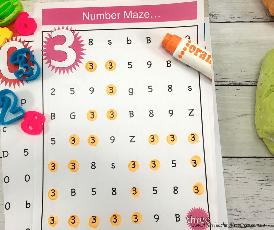 Number Maze Printables