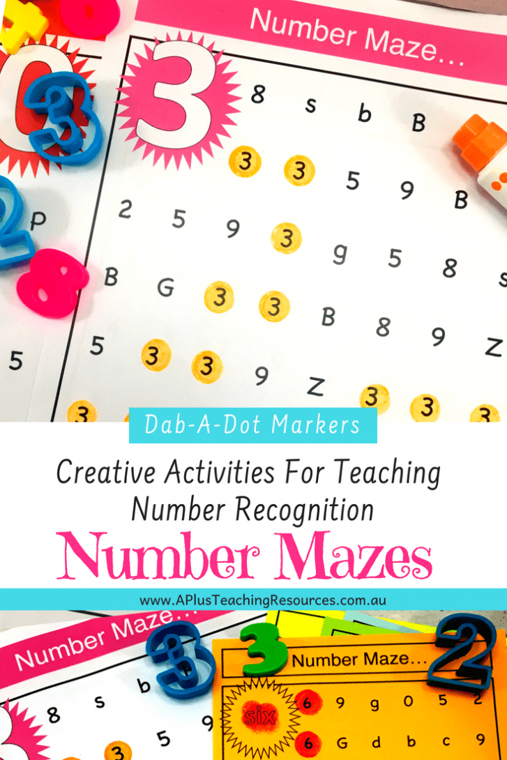 Number Recognition Printables Mazes 0-20