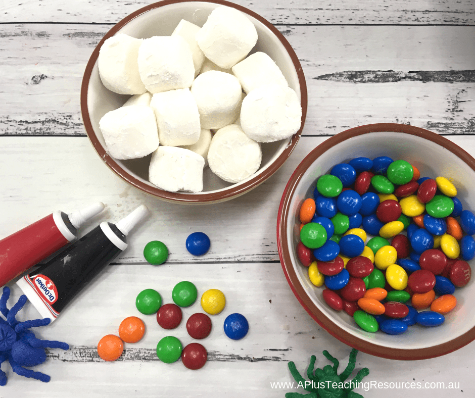 Marshmallow Eyeball Halloween Recipe Ingredients