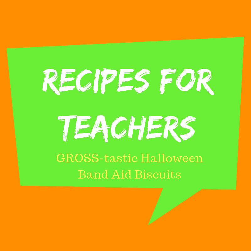 GROSS-tastic Halloween Recipe {Band Aid Biscuits}