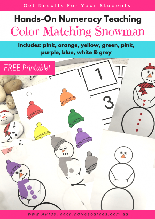 FREE Printable colour matching snowman