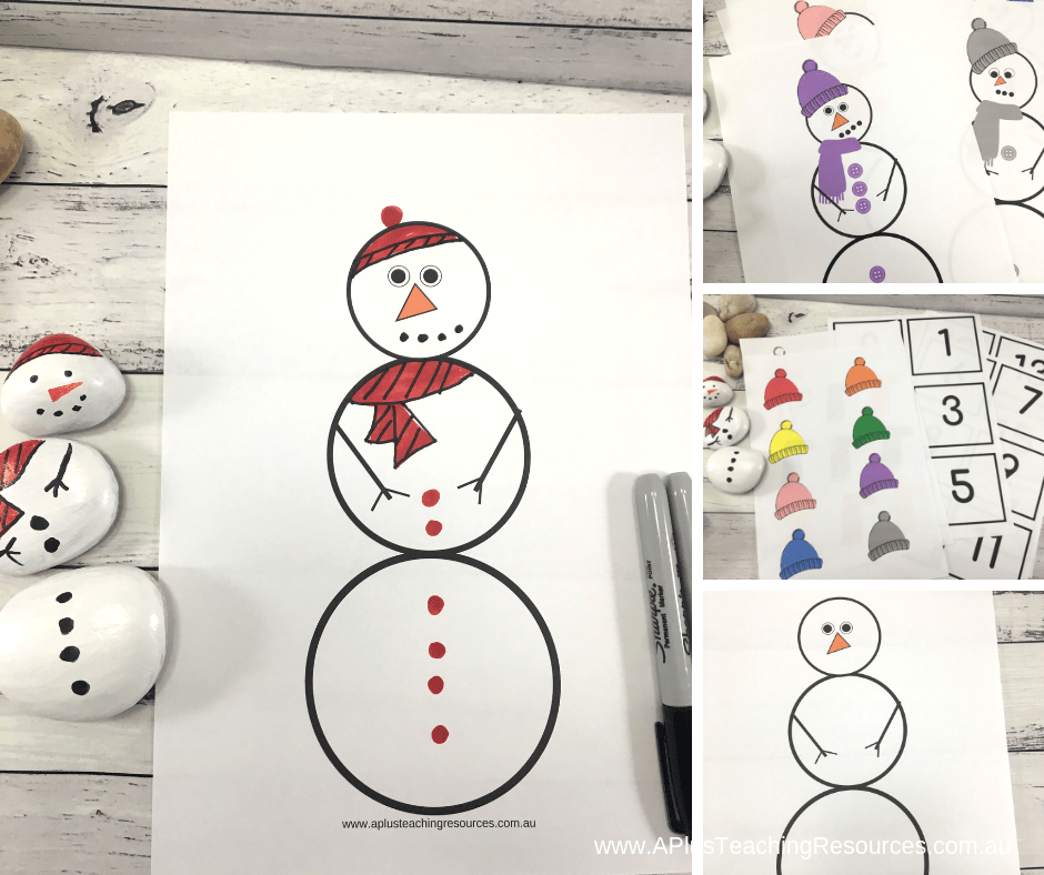 snowman colour matching FREEBIE