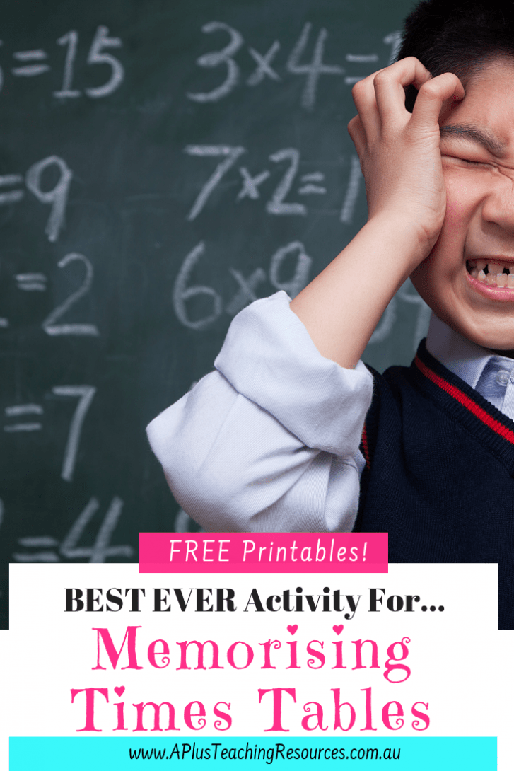 best ever activity for memorising times tables