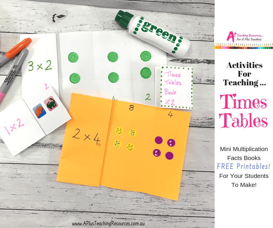 Times Tables Number booklet