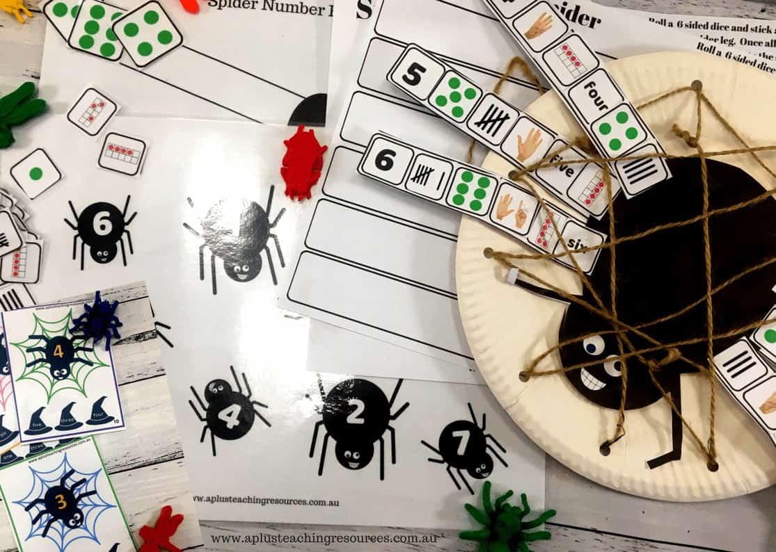 Spider number recognition pack