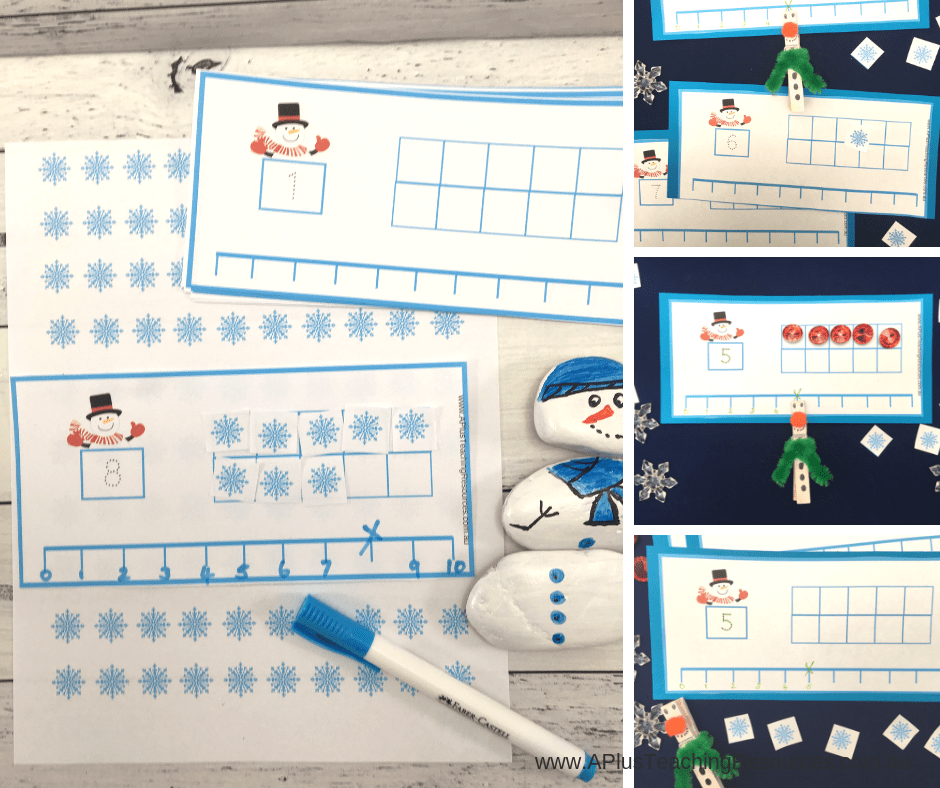 Snowman Ten frames Freebie
