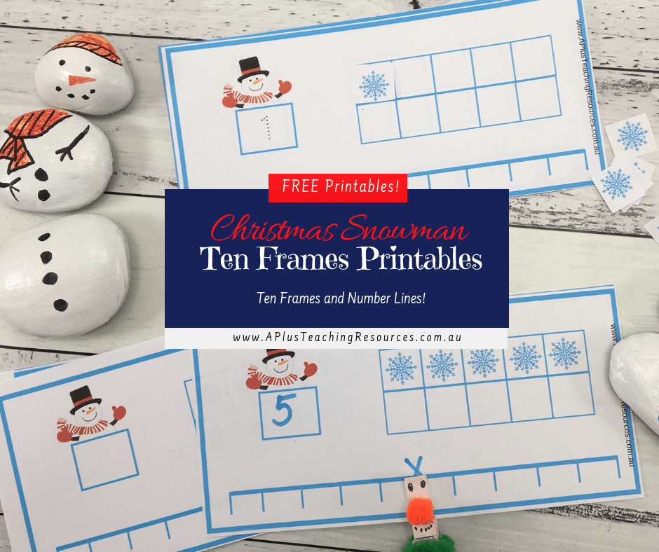 FB Snowman theme ten frames