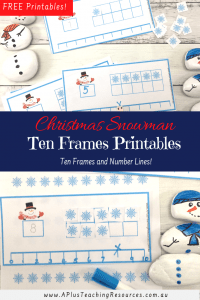Snowman Ten Frames Printable