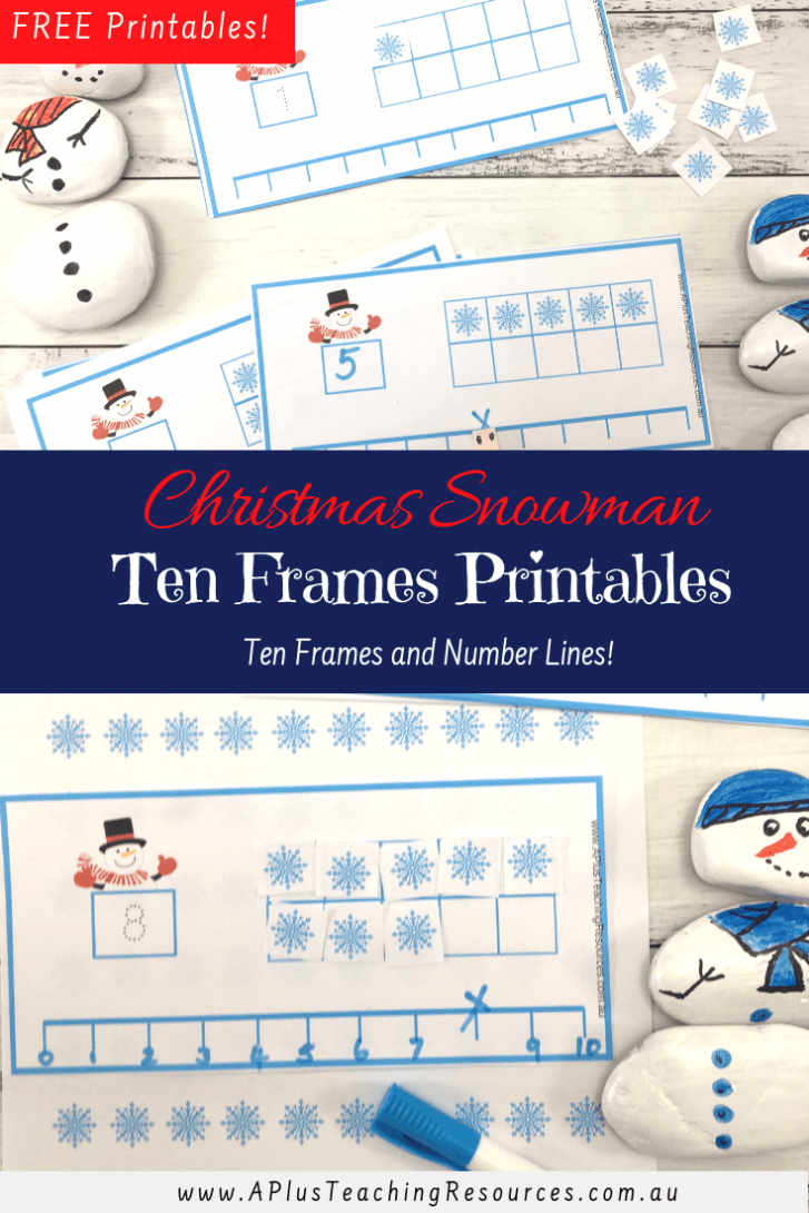 Snowman Ten Frames Printable {FREE!}