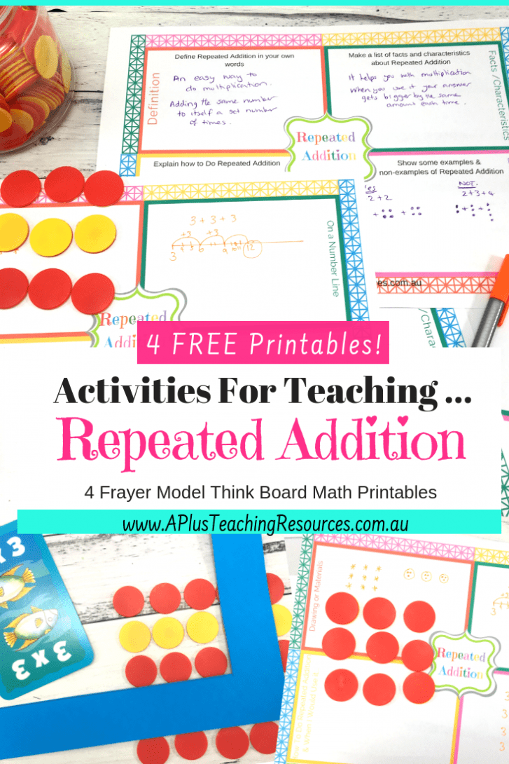 Repeated Addition Free Printable Think Board