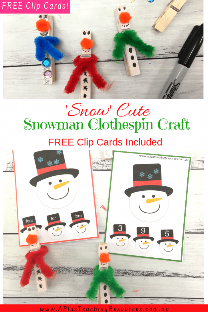 Clothespin Snowman Craft