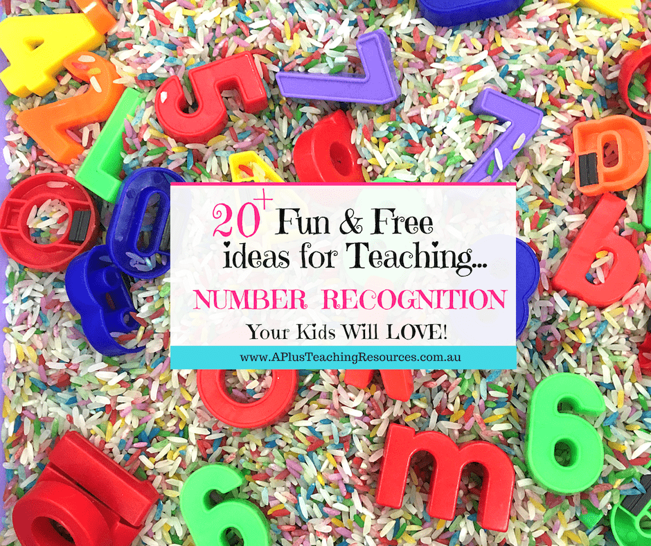 Fun number recognition activities