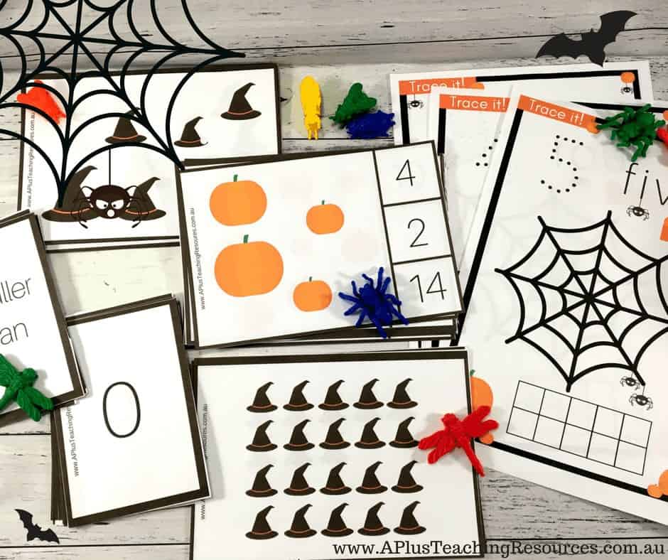 Halloween themed number recognition