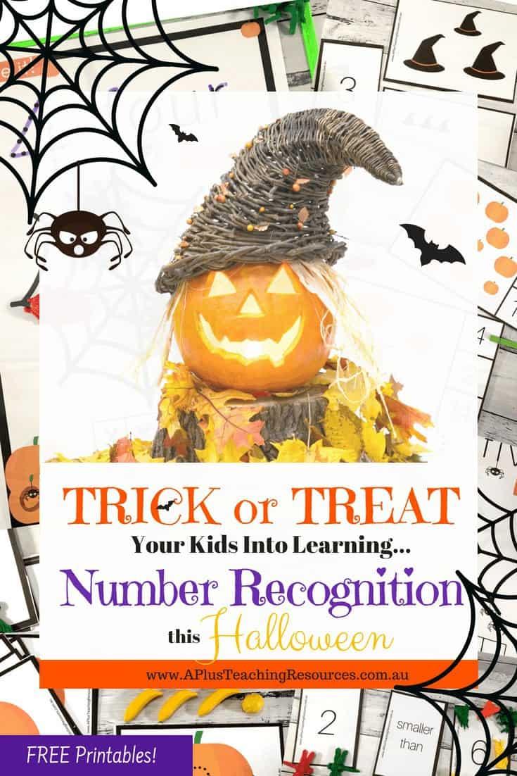 Halloween Printable Number Games
