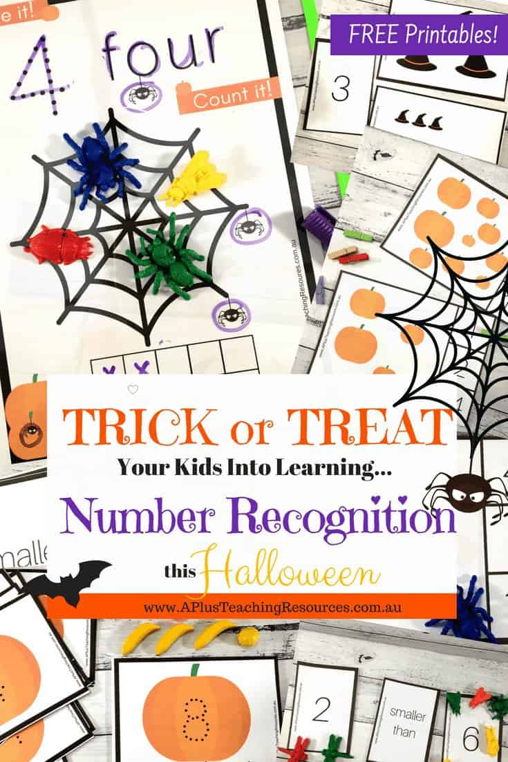 Number Recognition Halloween Theme