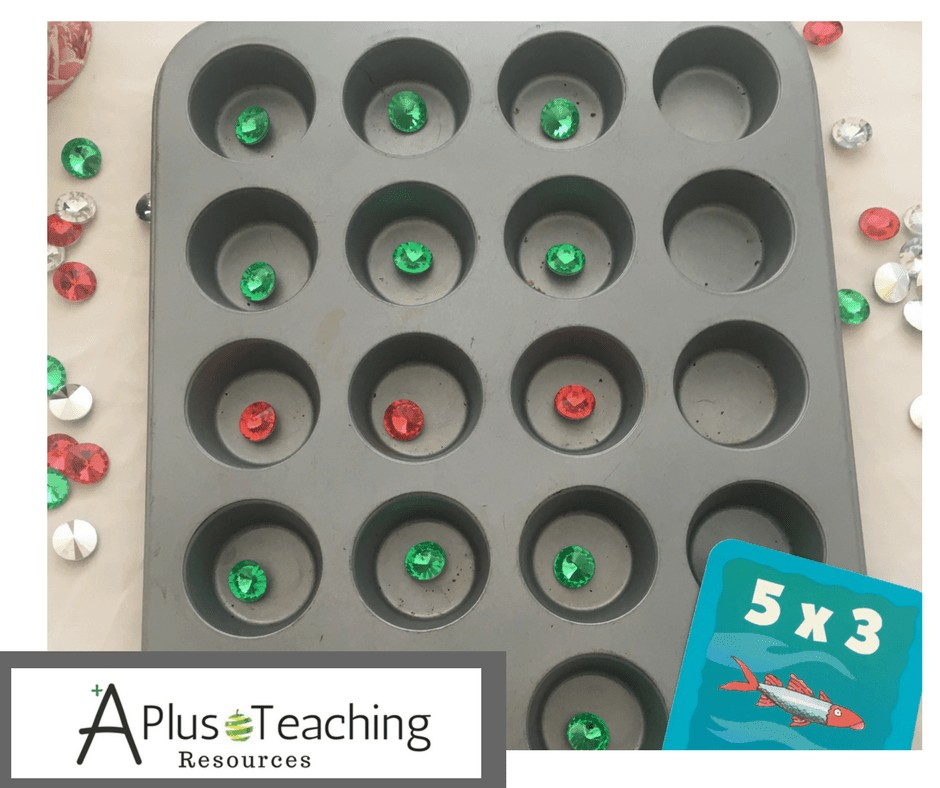 Multiplication with a muffin tin