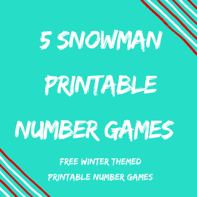 Winter Snowman Printable Number Games {5 Classroom FREEBIES}