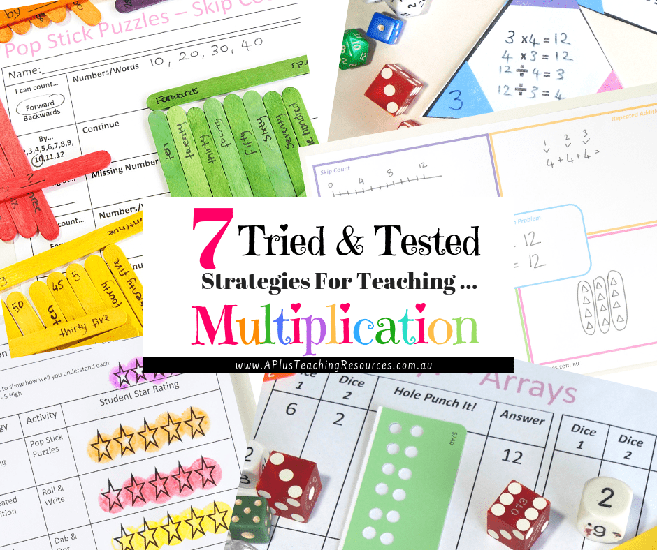 7 Easy & Stress Free Teaching Multiplication Strategies For Kids!