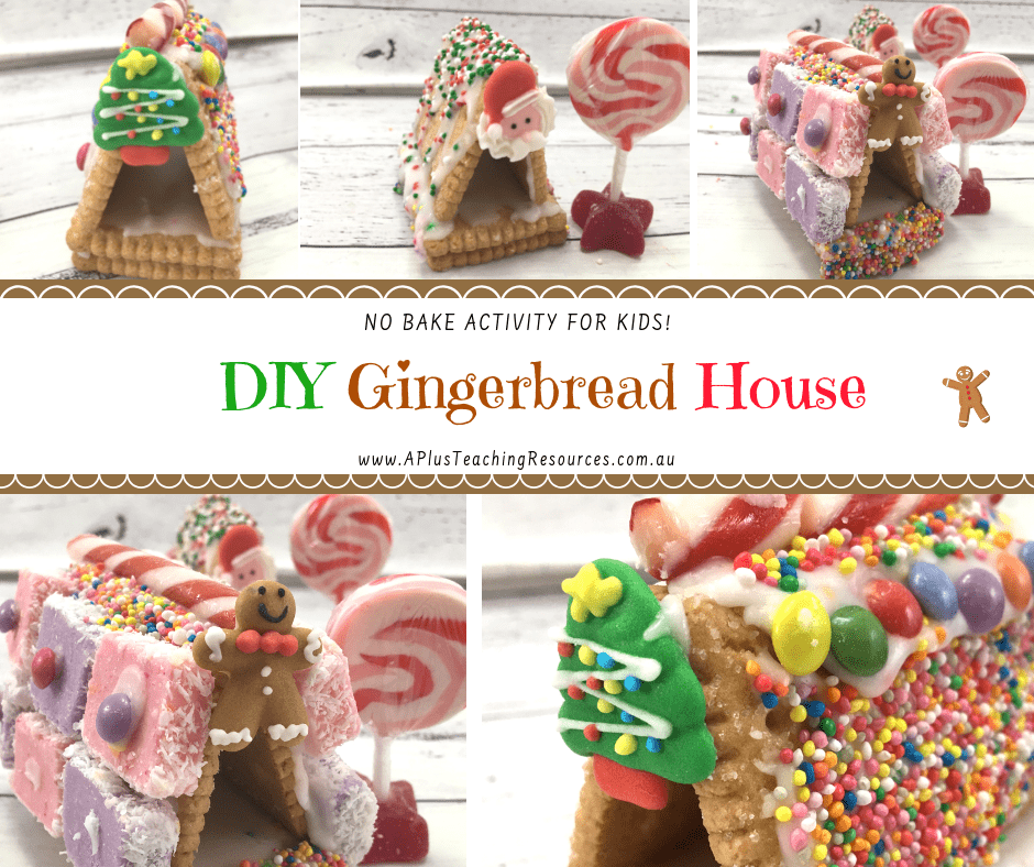 Easy Gingerbread House Activities For Kids {No-Bake Recipe}