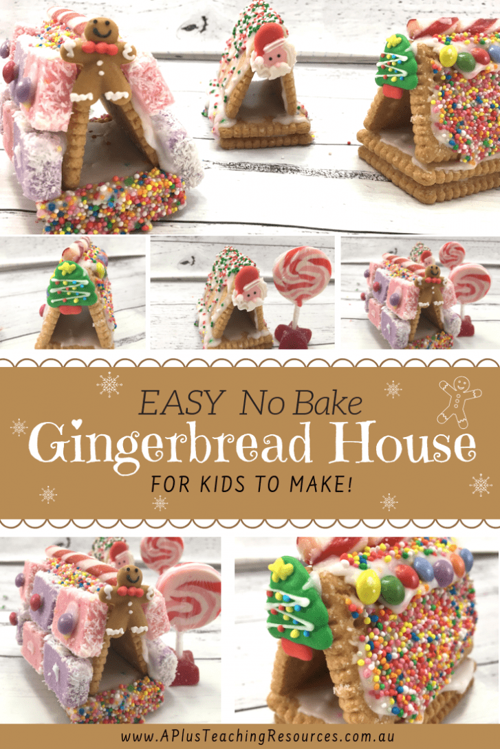 Gingerbread House Activities For Kids {No-Bake Recipe}