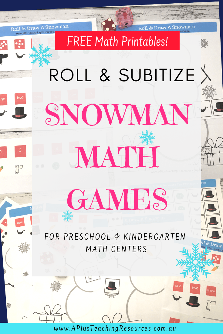 Subitizing Snowman math game