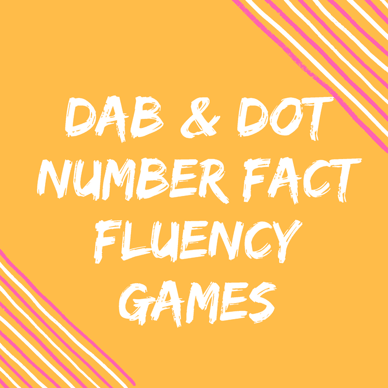 Do-A-Dot Fact Fluency Dice Activities {FREEBIES}