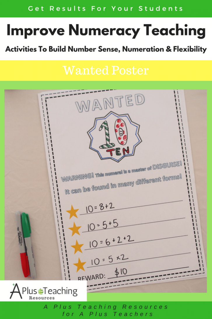 Building Number Sense- Wanted Poster
