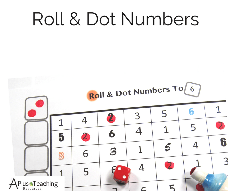 Roll & Dot Numbers To 6