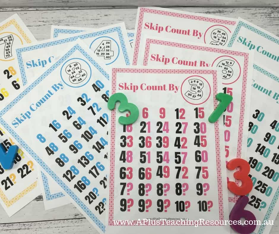 skip counting classroom charts