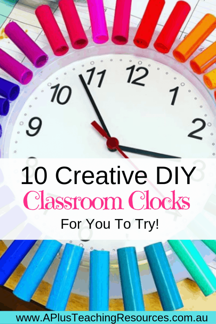 Classroom Clock Decor Ideas Pinterest Image