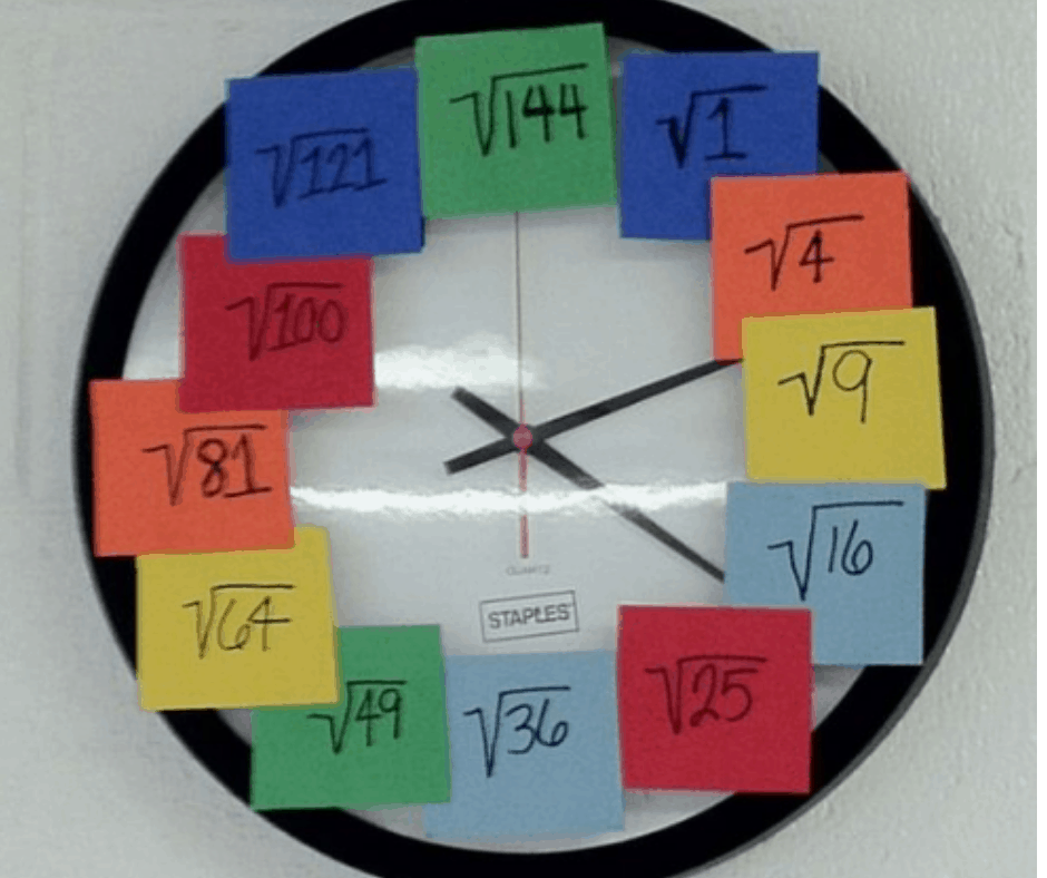 DIY Square Root Clock