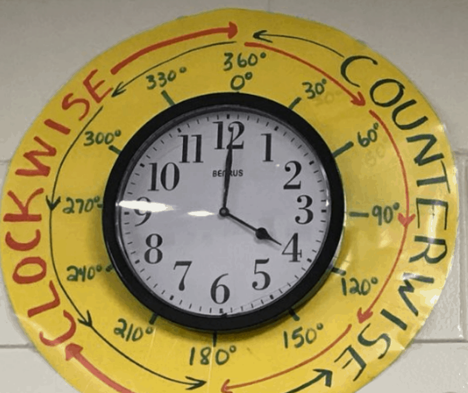 Angle Themed Clock Display
