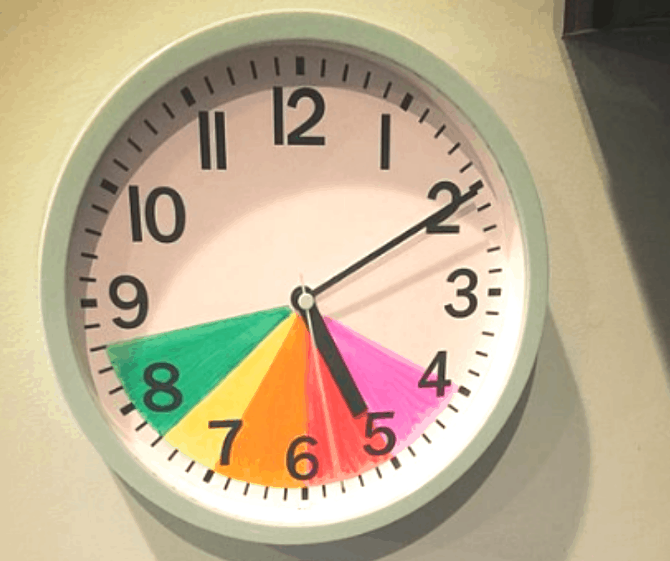 Colour Coordinated Routine Clock