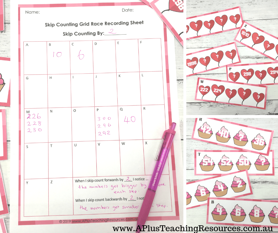 Free Skip Counting Printable for Valentine's Day