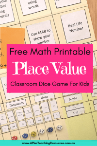 photograph relating to Printable Place Value Game titled The Suitable Space Cost Folder Match Printable For Absolutely free!