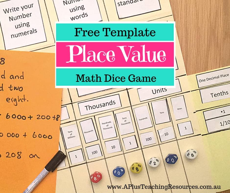 photograph relating to Printable Place Value Game named The Most straightforward Location Price tag Folder Recreation Printable For No cost!