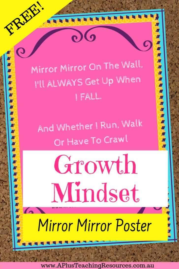 Mirror Mirror Free Growth Mindset Poster