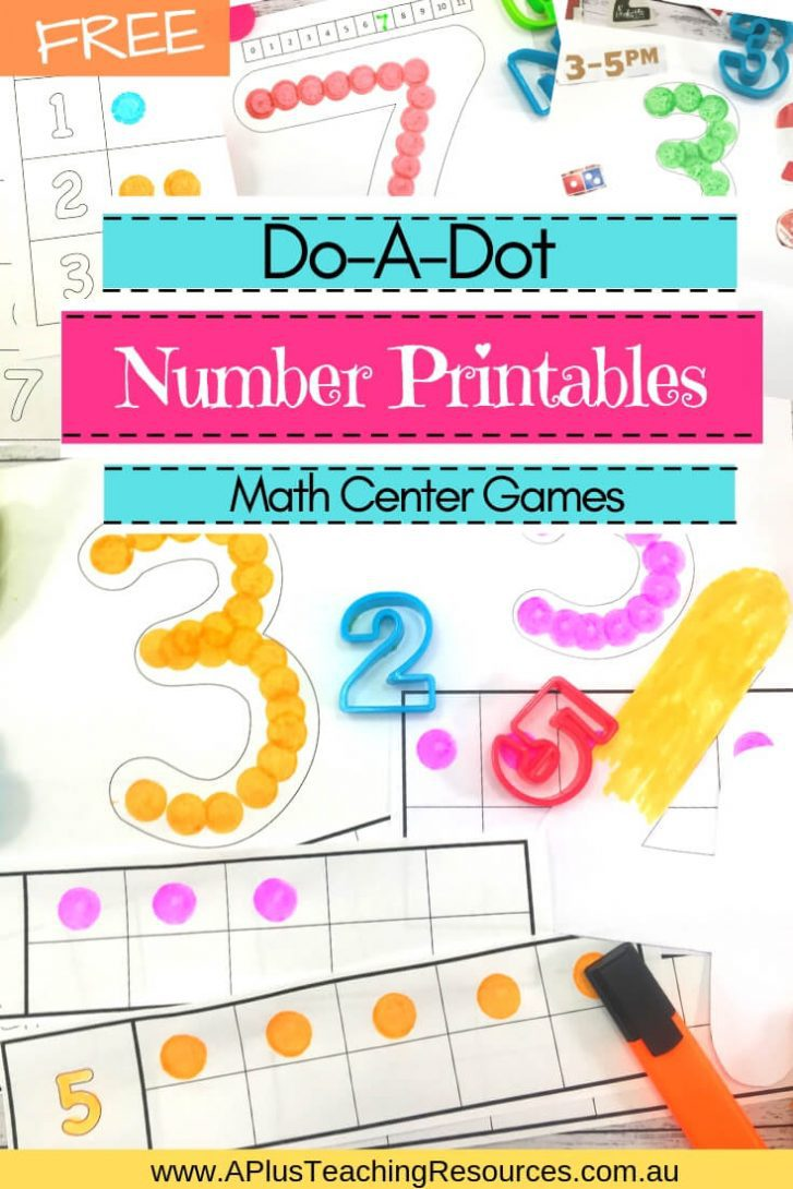 FREE Do-A-Dot Number Printables