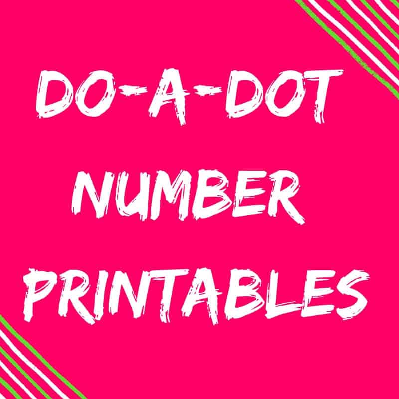 Classroom Essentials Do-A-Dot Number Printables {FREE Download!}