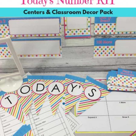 Today's Number Math Printables