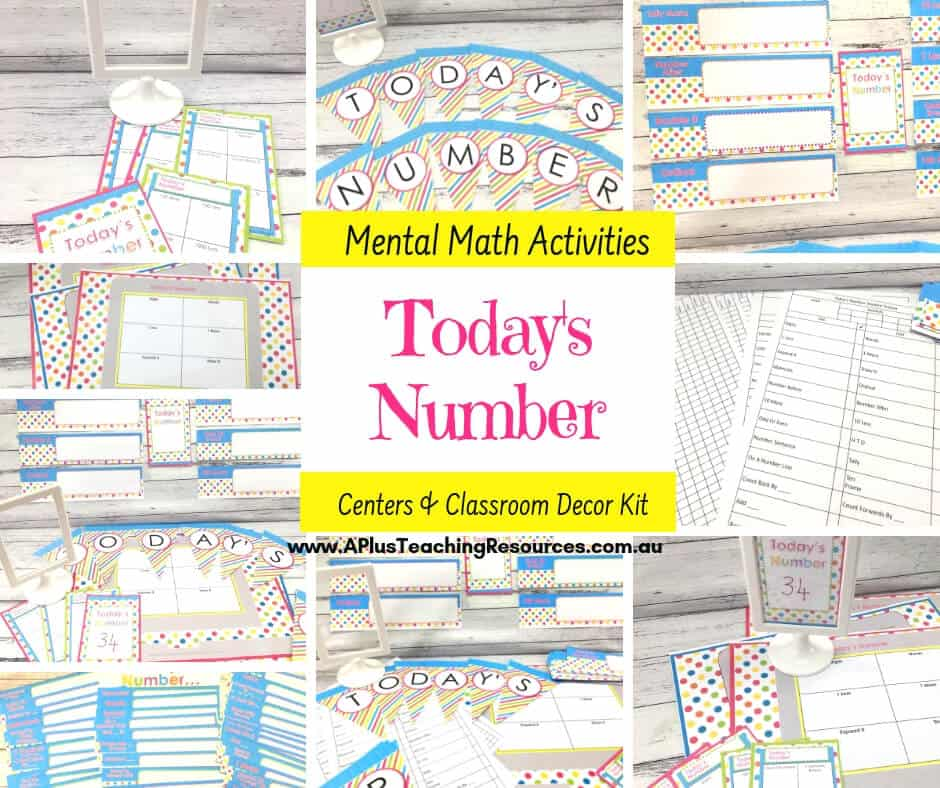 Mental Math Printable