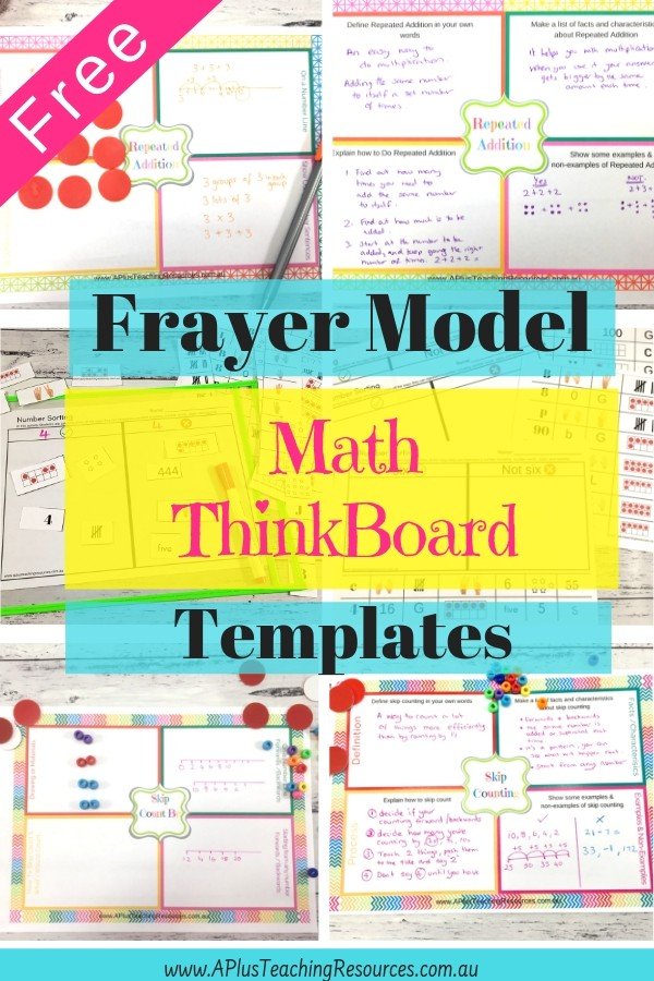 FREE Frayer Model Think Boards