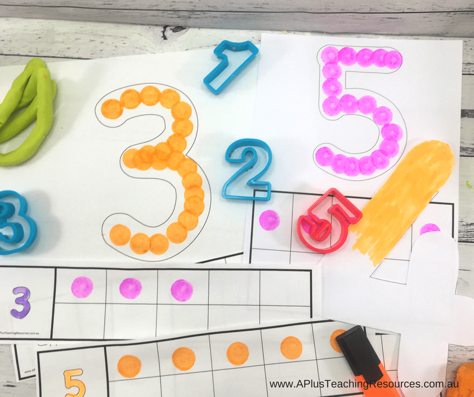 Number Printables with ten frames