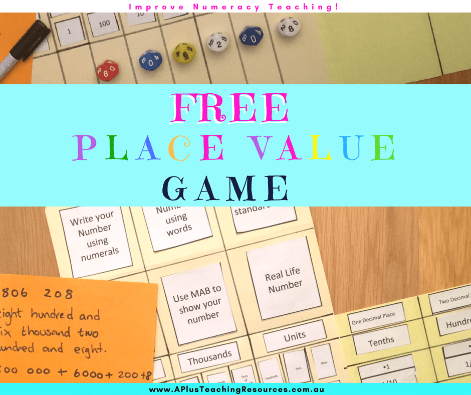picture regarding Printable Place Value Game known as The Most straightforward Desired destination Great importance Folder Video game Printable For No cost!