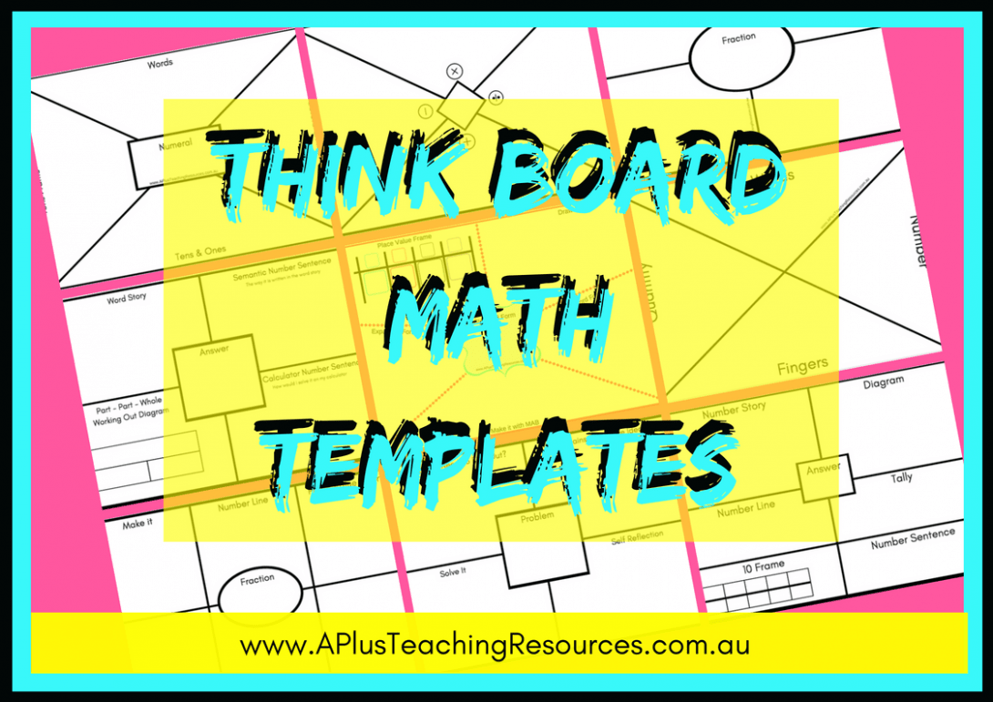 Think Board Math Templates