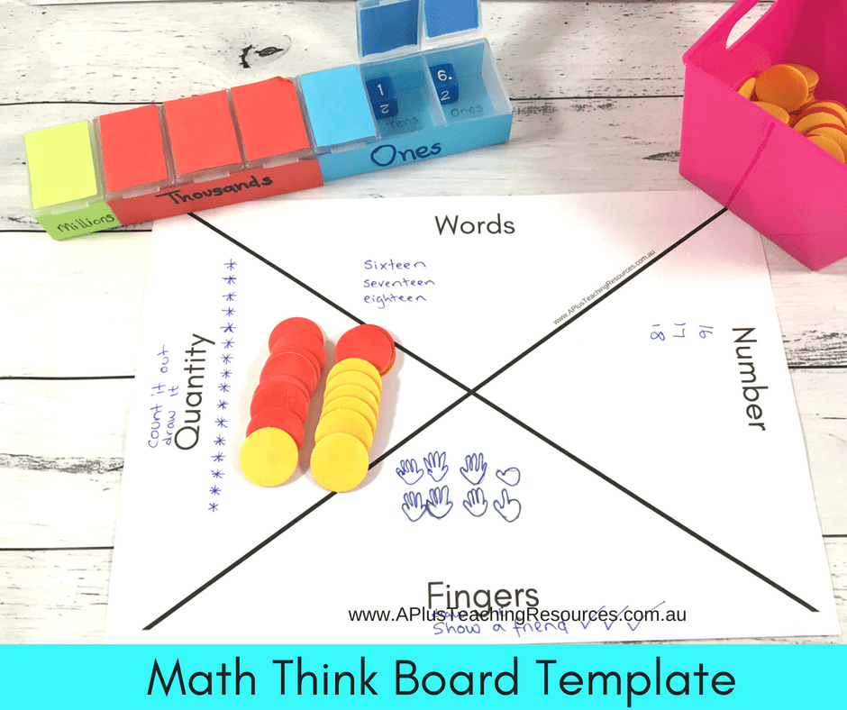 Math Think Board Templates