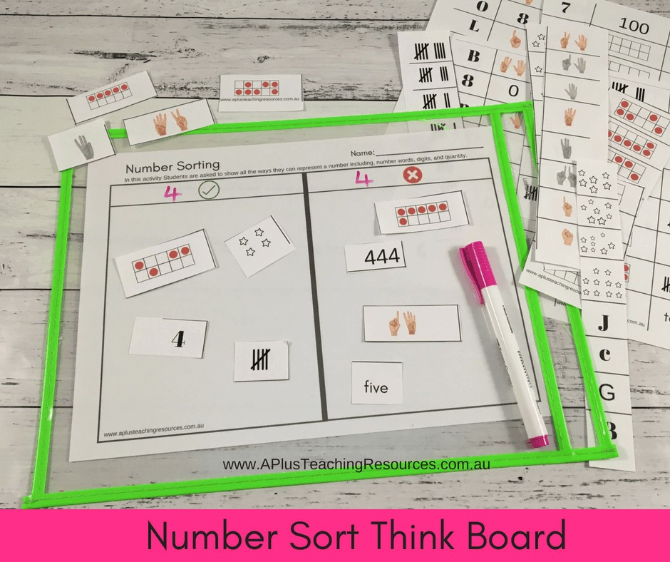 number sorts think boards