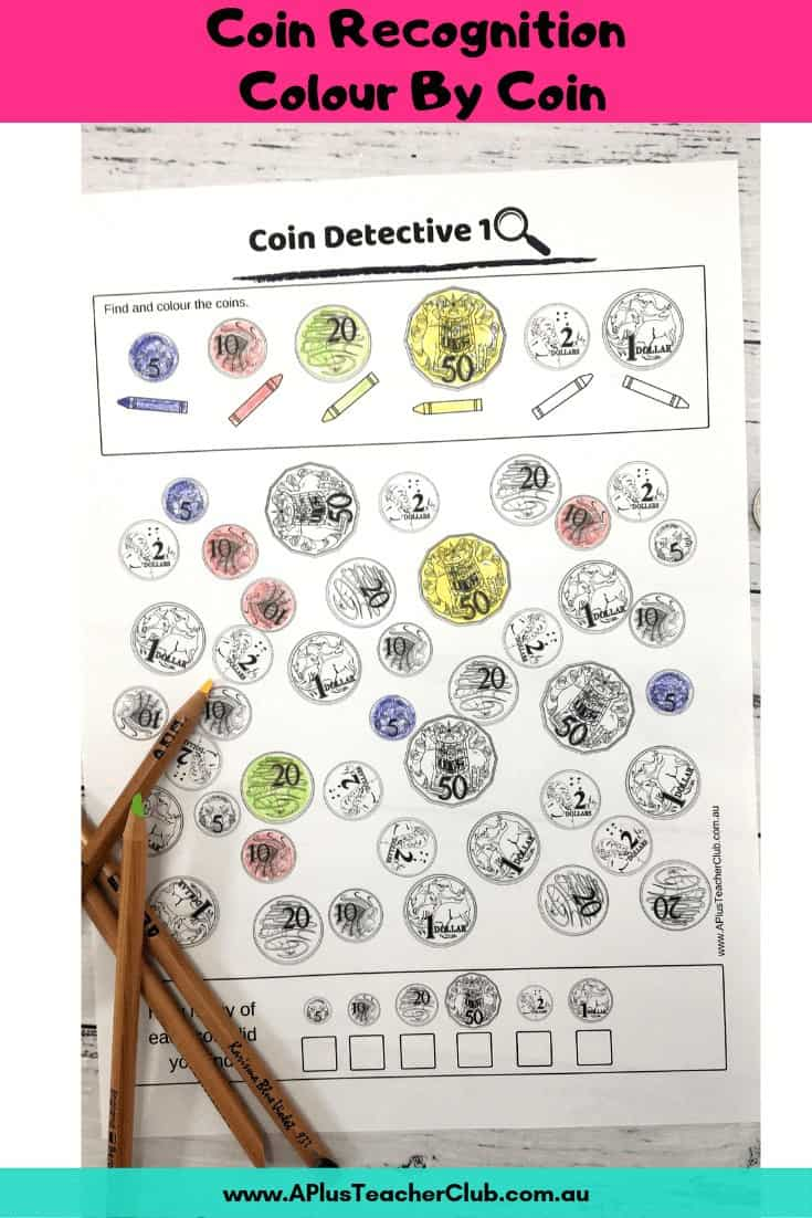 Colour By Coin worksheets
